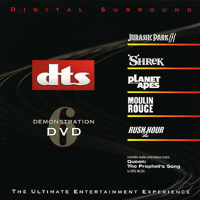 DTS 5.1, 6.1 & ES Demo #6  Genuine Very Rare Demonstration DVD Like New