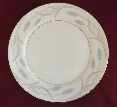 "Mid-Century Valmont Royal Wheat 10.5"" Dinner Plates White  New Old Stock"