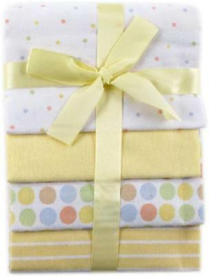 Flannel Receiving Blankets Pack Yellow Girls Boys Cotton Baby Accessory Bedding