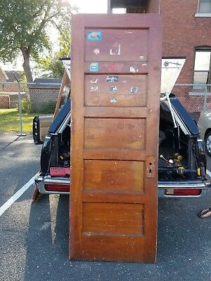Vintage 5 Panel Door 27.5 x 78 Architectural Salvage Antique