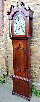 "Superior Antique ""moon Roller"" Longcase/grandfather Clock ""tho Parkinson"" Bury"