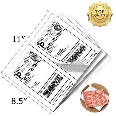 8.5x5.5 Direct Corner Half Sheet Self-adhesive Shipping Labels UPS USPS FedEx
