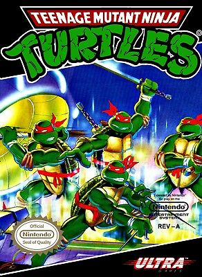 Ninja Turtles NES Cartridge Replacement Label Sticker EASY PEEL AND STICK