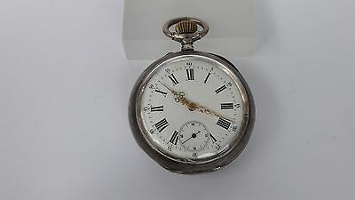 Silver Pocket Antique Remontoir Cylindre 10 Rubis - Case and Movement Tic-Tac
