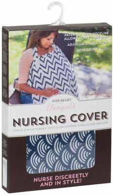 """NEW!! Bebe au Lait Elements Nursing Cover """"Nurse Discreetly and In Style"""" BLUE"""
