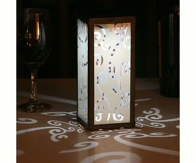 Outdoor Frosted Scroll Square Solar Lantern by Smart Solar antique brushed metal