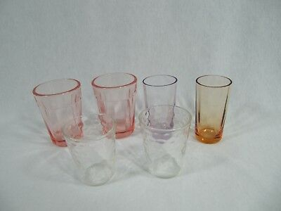 Beautiful Collection of Vintage Glass Doll Size Glasses Tumblers - 6 - Nice