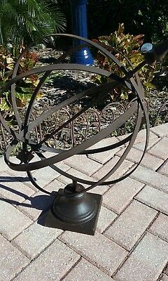 Antique Brass & Wrought  Iron Armillary/architectural Ornament, Great Patina-Euc