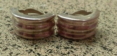 """'Zina 925' Sterling Silver Ribbed Scroll Earrings 1.25""""-11g"""