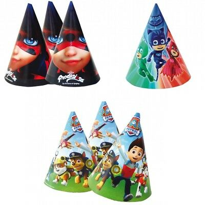 PJ Masks, Paw Patrol & LadyBug Character Kids Party/Birthday Cone Loot Hats