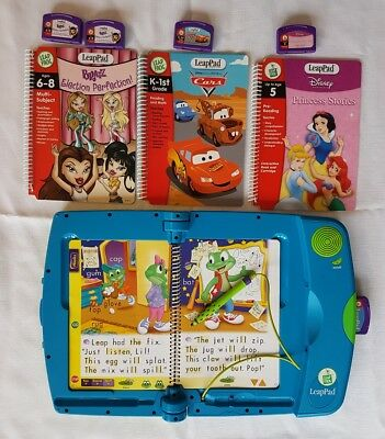 LeapPad 3 Bulk Bundle~Books Games Case~ Leap Frog Learning System~ Cars Princess