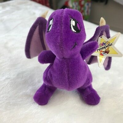 McDonalds Neopets NWT purple Shoyru 2004 4 inches hard to find Happy Meal toy