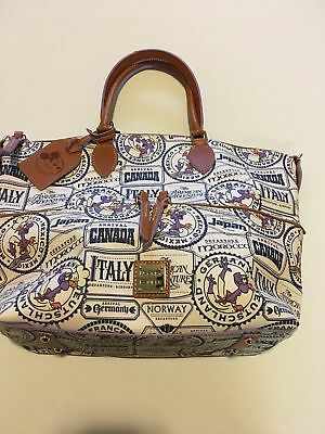 Disney Epcot Dooney And Bourke Food Wine Festival Figment Tote 2017 Passholder