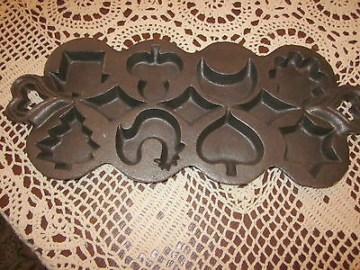 VINTAGE CAST IRON *CANDY~COOKIE*MOLD (8 Different shapes)