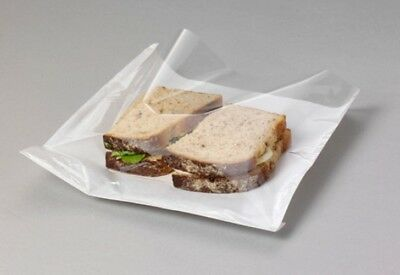 Clear Cellophane FILM FRONT Paper Food Bags White Window Sandwich Cake Card