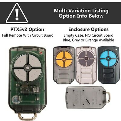 Garage Door Remote Control ATA PTX-5 PTX5v2 TrioCode 128 - Replacement Options!
