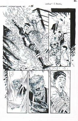 Grid, Naja, Inferno, Banyan 2016 Inhumans Orig. Ink Art-Kev Walker/ Scott Hanna!