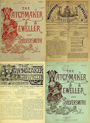 216 RARE ISSUE Of THE WATCHMAKER JEWELER SILVERSMITH OPTICIAN (1875-1894) ON DVD