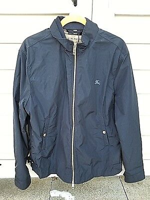 New With Tags Burberry Brighton Lightweight Jacket In Navy Size XL $595