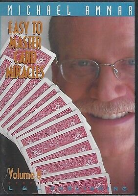 Easy To Master Card Miracles Vol 8 - Magic DVD Michael Ammar Free Shipping - NEW