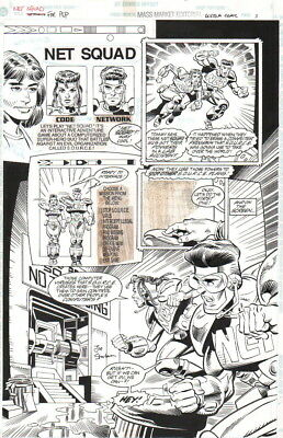 Net Squad 1996 Original Art-Code & Network-Joe Staton-Signed!