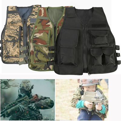 Tactical Child Kids Vest Camouflage Military Protective Waistcoat Outdoor Sport