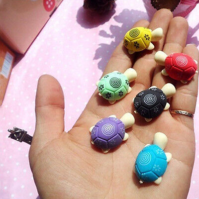 4pcs Cute Colorful Turtle Shape Cleansing Rubber Eraser Stationary Kid Gift Toy