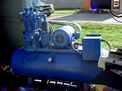 Quincy air compressor 5 HP 3 phase 220/440 volts 80 gal. tank