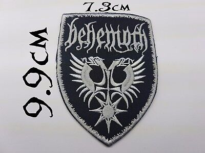 Quality Iron/Sew on Behemoth patch biker Old school heavy metal Music