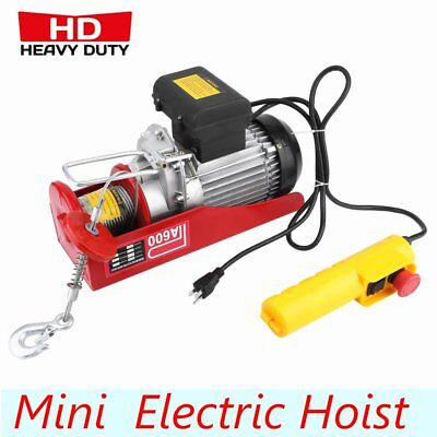 New 1320lbs Mini Electric Wire Hoist W//Control Garage Auto Shop Overhead Left BT