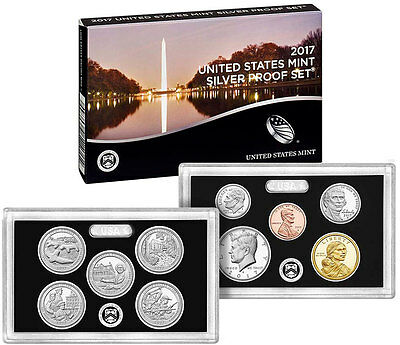 New 2017-S SILVER Proof Coins Set With Box and CoA - Same Day Shipping!!!