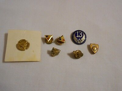 Vintage lot of Military & Knights of Rythias Pin Lapels