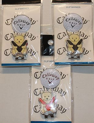 2x Callaway Bear HAT CLIP MAGNETIC MARKER suit Caps or Visors Free Delivery