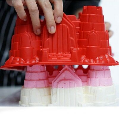 Large Castle Silicone Cake Mold Pan Muffin Chocolate Pastry Baking Tray Mould