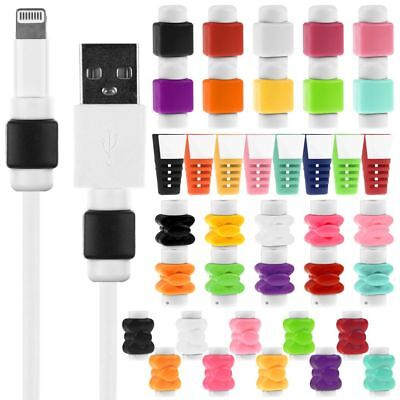10Pc Protector Saver Cover For Apple iPhone Lightning Charger Cable USB Cord New