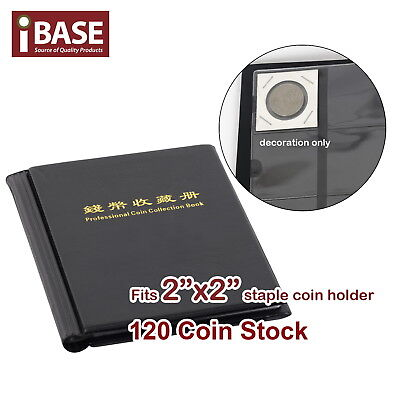 "Staple 2""x2"" Coin Holder Collection Collecting Album Stock Storage Pocket 120"