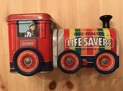 Vintage Life Savers Five Flavor Delivery Train Tin Toy