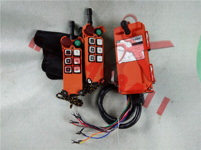 F21-E1 Double Emitters Hoist Crane Radio Wireless Remote Control AC 110V