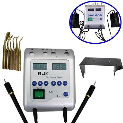 spatola elettrica per odontotecnico dental electric waxer with 2 pencil 6 tips