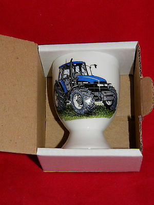 BN Boxed New Holland 8560 Fine Bone China Egg Cup, Vintage Tractor Gift