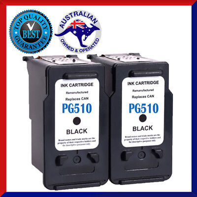 2x Ink Cartridge for Canon PG 510 Black CL 511 Color iP2700 MP230 MP240 MP250