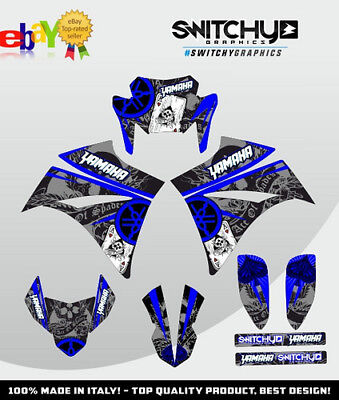 Kit Adesivi Grafiche Ace Of Spades Ii Blue Yamaha Xt 660 X 2004 2005 2006