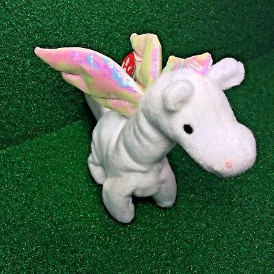 Truly RARE Ty Beanie Baby 1995 Magic Dragon MWMT Retired PVC Plush Tush ERRORS