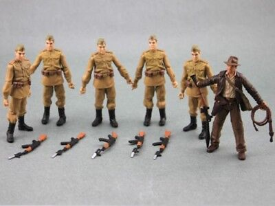 "Lot 6PCS Indiana jones movie Russian Soldiers Action Figure 3.75"" hasbro Toys"