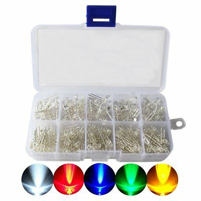 LED Diode Kit,3mm 5mm LED Lights Emitting Diodes Assorted Clear Bulbs with T9B3