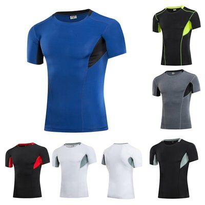 Fashion Mens Quick Dry Athletic Sport Blouse Casual Stretch Shirt Tops Fit Shirt