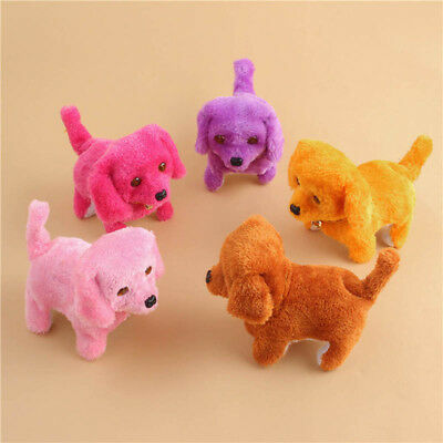 Cute Walking Barking Toy Funny Electric Short Floss Electric Moving Dog Kids Toy