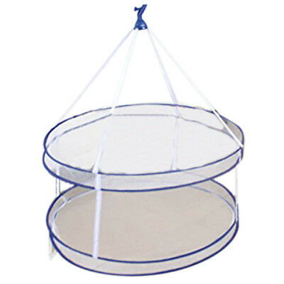 Drying Rack Folding Hanging Clothes Laundry Basket Dryer Net 2 layers T2S6