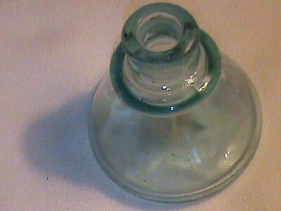 Antique aqua colored ink bottle