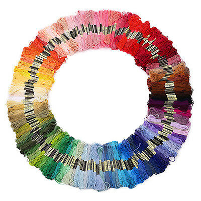 50pcs Mixed Color Embroidery Thread Cross Stitch Floss Sewing Skeins Cotton Pop*